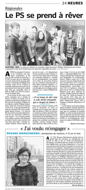 Le-Parisien-14-janvier-2010-Le-ps-se-prend-a-rever