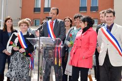 Inauguration Place F.Mitterrand 1